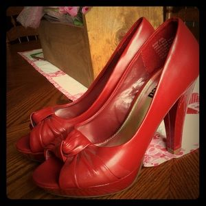 Red Bond Girl Heels
